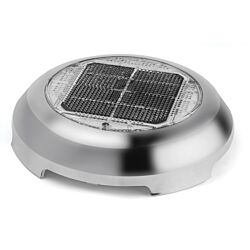 """Day/Night Plus Solar Vent, 3"""" (7.62 cm) Stainless Steel"""