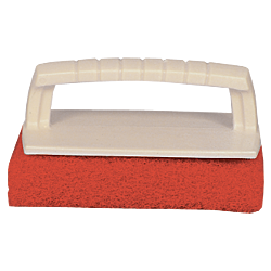 Scrub Pad with Handle (Medium) (Red)