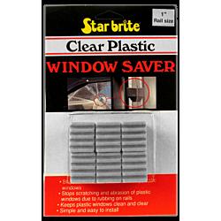 "Clear Plastic Window Savers 1"" - 6pk"