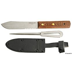 Set: SS Knife + Marlin Spike + Leather Cover (x1)
