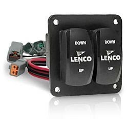 Lenco Electric Trim Tabs Double Rocker Switch