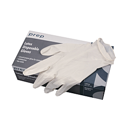 BOX OF 100 LARGE LATEX GLOVES