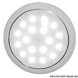 Day/Night LED Ceiling Light Recessless Chromed