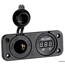 Digital Voltmeter and Power Outlet Recess Mounting