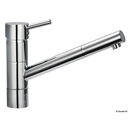 Diana Swivelling Mixer with Ceramic Cartridge, Adjustable Jet and Long Neck, Suitable for Kitchen Sinks
