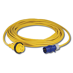 Cordset, 16A 230V, 1M, With European Plug, Yellow