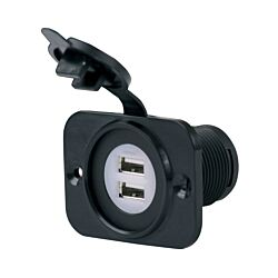 Dual USB Charger Receptacle 12-24V