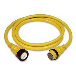 Cordset, 50A 125/250V, 75', Yellow