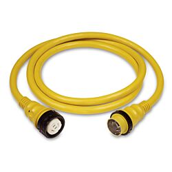 Cordset, 50A 125/250V, 50', Yellow