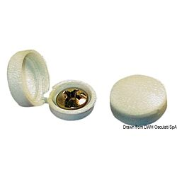 Shore Cap Under-Screw Washer White