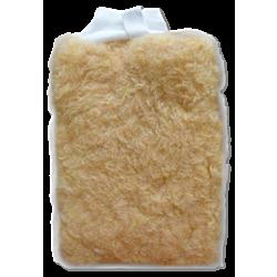 Wool Wash Mitt With Mesh Fibers
