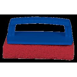 Scrub Pad with Handle – Medium (Red)