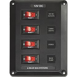 4 Position, BelowDeck Circuit Breaker Panel