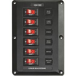 6 Position, BelowDeck Circuit Breaker Panel