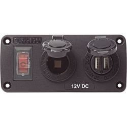 Blue Sea Systems Panel Acc H2O USB & Sckt