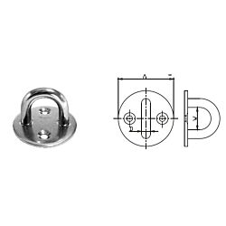 Round Eye Plate - Stainless  Steel AISI304