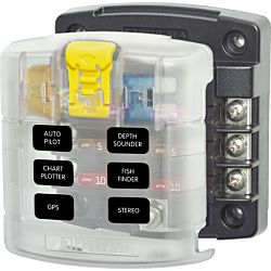 ST Blade Fuse Block - 6 Circuits with Cover