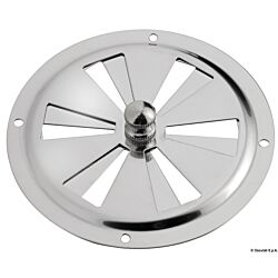 Round Vent Polished SS 102mm
