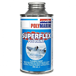 PVC 'Superflex' Flexible Paint - 500ml Tin White
