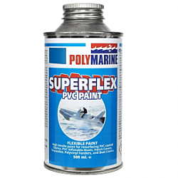 PVC 'Superflex' Flexible Paint - 500ml Tin Blue