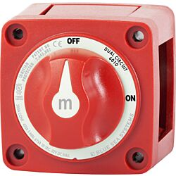 m-Series Mini Dual Circuit Battery Switch - Red