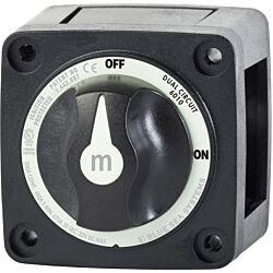 m-Series Mini Dual Circuit Battery Switch - Black
