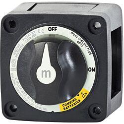 m-Series Mini Dual Circuit Plus™ Battery Switch - Black