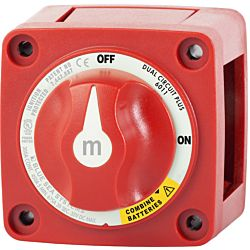 m-Series Mini Dual Circuit Plus™ Battery Switch - Red