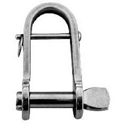 Key pin shackle w/bar flat AISI304 8mm