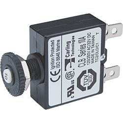 Push Button Reset Only Quick Connect Circuit Breaker-10A