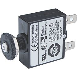Push Button Reset Only Quick Connect Circuit Breaker-15A