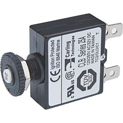 Push Button Reset Only Quick Connect Circuit Breaker-25A