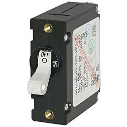 A-Series White Toggle Circuit Breaker - Single Pole 5A