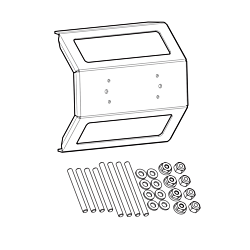 IDMK S12R - In-Dash Mounting Kit SOLIX 12 Models REINFORCED