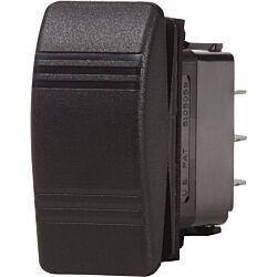 Contura Switch SPDT Black - (ON)-OFF-(ON)