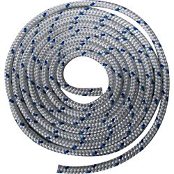 Waveline 12mm Braid on Braid Polyester White with Blue Flecks - 200M