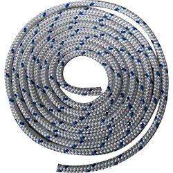 Waveline 14mm Braid on Braid Polyester White with Blue Flecks - 200M