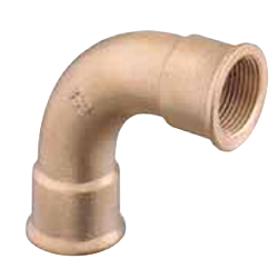 90° Bend F-F (Brass)