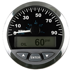 Speedometer with LCD
