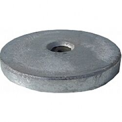 Magnesium Hull Anode Bolt On - Disc 2 Kgs Nom Weight 225MM Dia