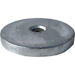 Aluminium Hull Anode Bolt On - Disc 2.8 Kgs Nom Net Weight 229MM Dia