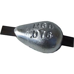 Aluminium Hull Anode Weld On - 0.5 Kgs Nom Net Weight