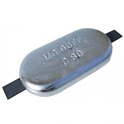 Aluminium Hull Anode Weld On - 3.0 KGS NOM NET WEIGHT