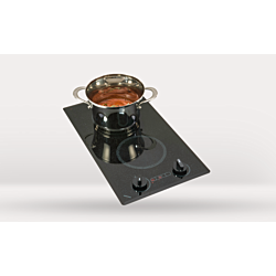 Mediterranean Trimline Two Burner Black 120 Volt