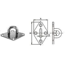 Diamond Eye Plate - Stainless Steel AISI304