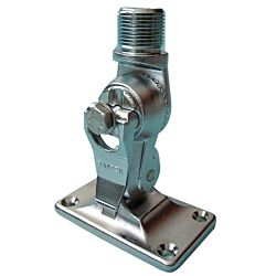 """CHROME PLATED BRASS BASE - FOUR WAY RATCHET MOUNT - 14 THREADS ON 1"""" DIAMETER"""