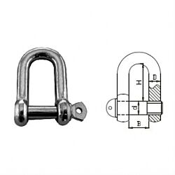 Comm. shackle dee AISI316 16mm