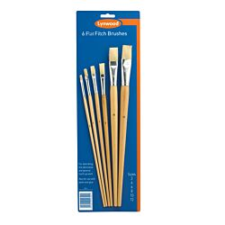 6 Flat Fitch Brushes