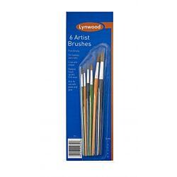 6 Artist Brushes