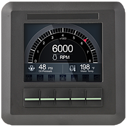 """C3l Engine Monitor (low profile) 3.5"""" LCD / Button"""